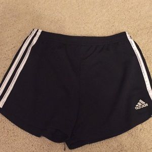 Adidas black athletic shorts